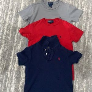 Lot of 4 polo tees and collared shirt 5T/6T